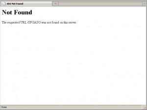 apache default error page