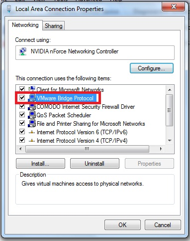 VMware Bridged Networking - Jesin's Blog