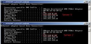 network load balancing ipconfig