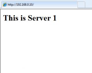 network load balancing server 1 iis