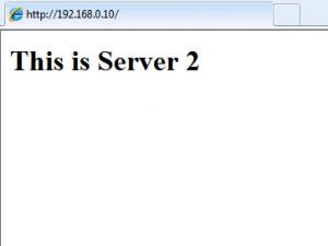 network load balancing server 2 iis