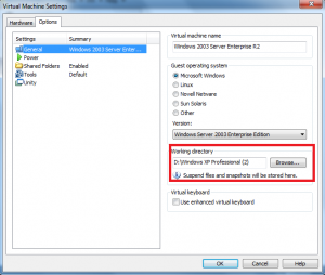 vmware custom network adapter working directory