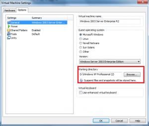 vmware custom network adapter working directory