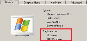 change registered to windows