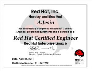 RHCE certificate