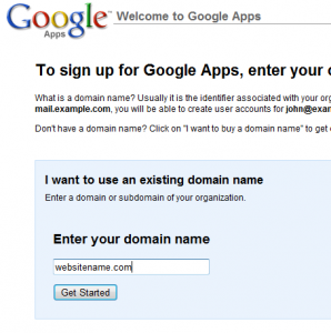 google apps setup step1