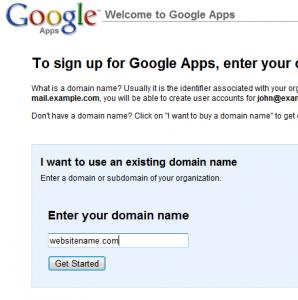 google apps setup step1