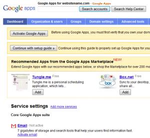 google apps setup step5