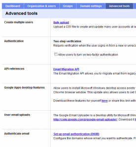 google apps setup step7
