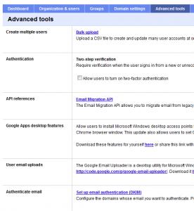 google apps setup step7