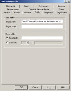 roaming profile user properties