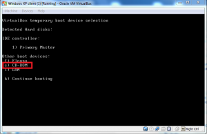 boot virtual machine from cd