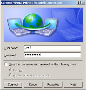 vpn connection credentials