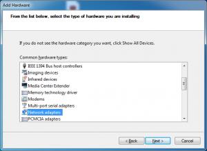 add hardware network adapters
