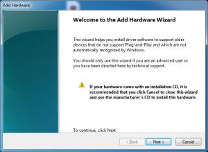 add hardware wizard