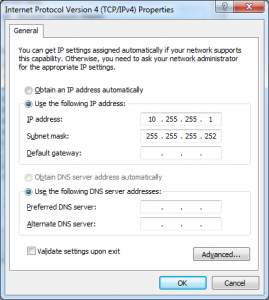 assign ip address loopback interface