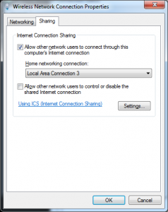 internet connection sharing loopback adapter
