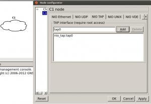 linux gns3 cloud tap interface