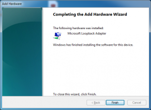 microsoft loopback adapter installed