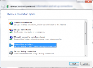 connect to a workplace vpn