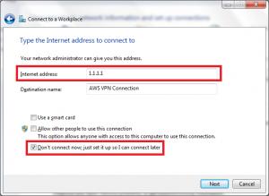 pptp VPN server IP