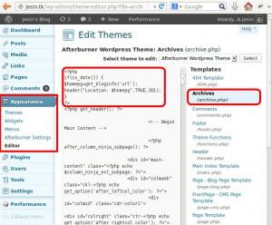 wordpress edit themes