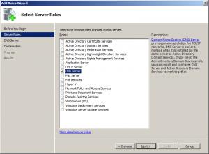 add server roles dns