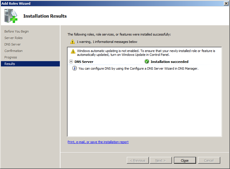 how to get my dns server ip on server 2008