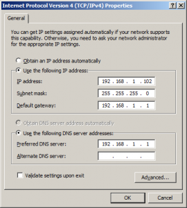 dns server ip settings