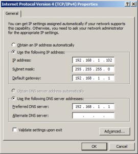 dns server ip settings