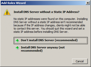 dns server without static ip