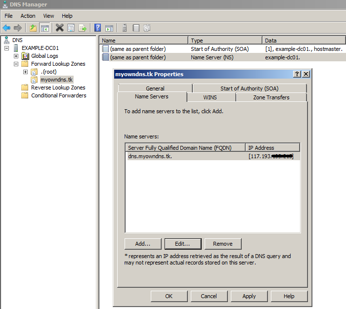 Setting up an authoritative DNS in Windows Server 2008