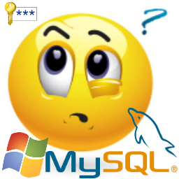 forgot mysql password windows smiley