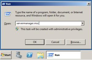 run servermanager.msc