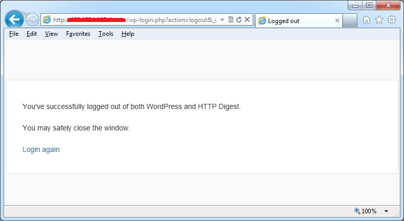 http digest authentication logout