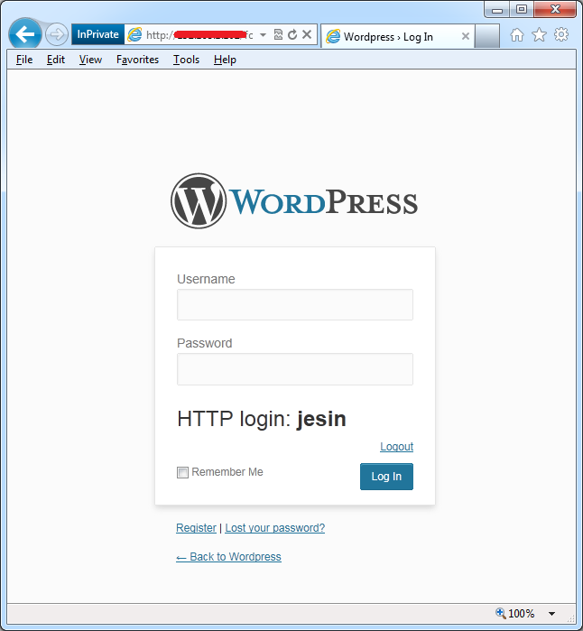 http digest authentication wp login