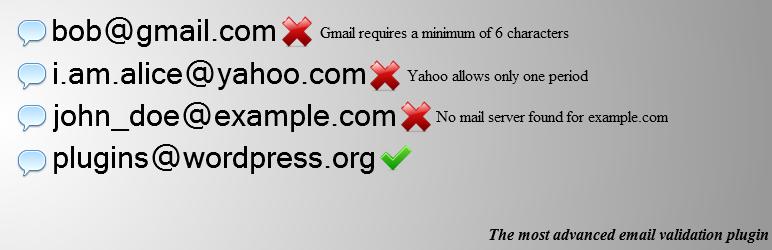 mailgun email validator banner