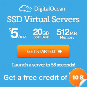 DigitalOcean $10 free credit
